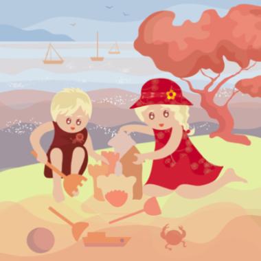 Scarlette et Joann au bord de la mer